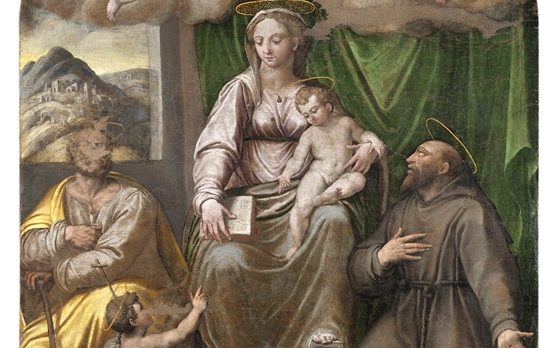 Giovanni Paolo Cardone, Madonna - Dopo il restauro