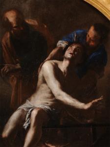 DEttaglio del Martirio di San Lorenzo