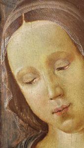 Dettaglio della Madonna di Davide Ghirlandaio