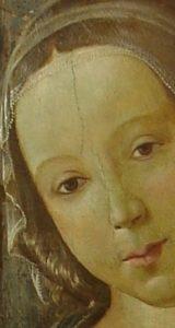 Dettaglio della Madonna di Davide Ghirlandaio - dopo il restauro