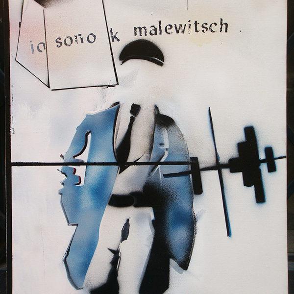 Mario Schifano, Io sono K Malewitsch - Dopo il restauro
