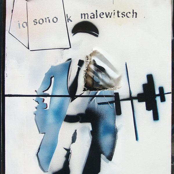 Mario Schifano, Io sono K Malewitsch - Prima del restauro